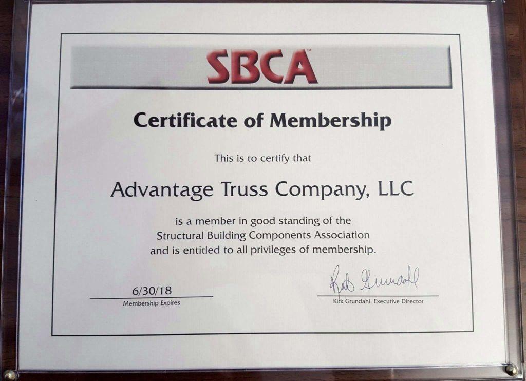 sbca truss advantage structural joins components association building